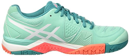 Asics Gel-Challenger 10 W, Chaussures de Tennis Femme Multicolore (Cockatoo/White/Flash Coral)