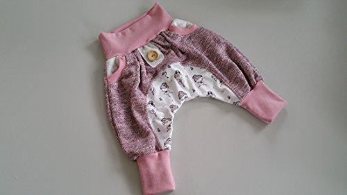 Atelier MiaMia - Pumphose oder als Set Baby Kind von 50, 56, 62, 68, 74, 80, 86, 92, Designer Babyhose Set Limitiert !! Ballerina, Strick