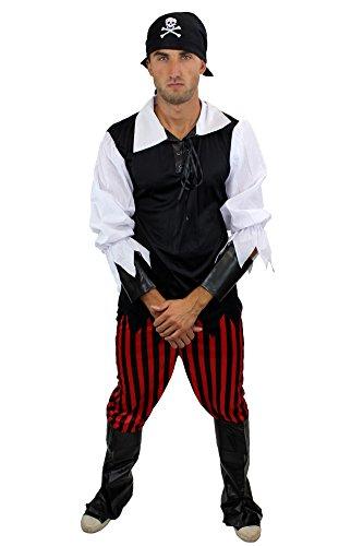 Herren Herrenkostüm Pirat Freibeuter Störtebeker Gr. 52, L (Coole Piraten-kostüme)