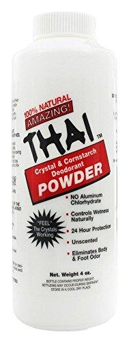 THAI DEODORANT STONE BODY POWDER,THAI, 4 OZ by Thai Deodorant