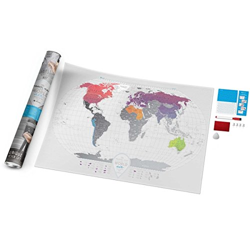 Detailed Scratch Off Travel World Poster - Premium Edition - 37.8