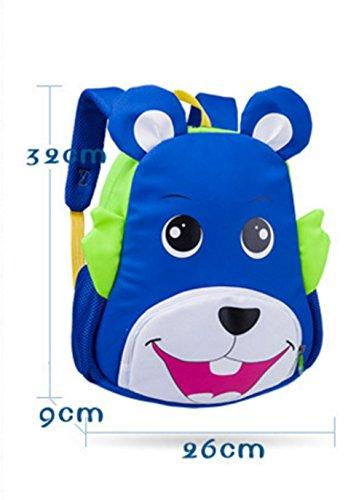 Ohmais Kinder Mädchen Junge Unisex Rucksack Schule Grundschule Kindergarten Zeichnung blau