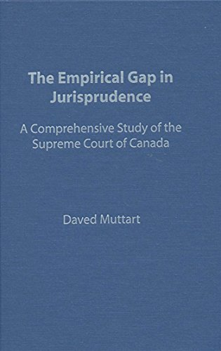 Empirical Gap in Jurisprudence: A Comprehensive Study of the Supreme Court of Canada (Heritage) (English Edition) por Daved Muttart