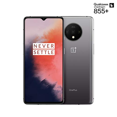 OnePlus 7T Smartphone Frosted Silver | 6.55'/16,6 cm AMOLED Display 90Hz Screen | 8 GB RAM + 128 GB Storage | Triple Camera + Front-Camera | Warp Charge 30