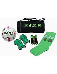 X J.X.N Combo Of Gym Bag,Football Stocking,Skipping Rope,Football And Shin Guard