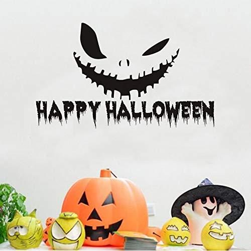 en Kürbis Lächeln Vinyl Wandaufkleber Abziehbilder Halloween Home Decorition Zubehör Wandtattoo Für Wandbild Schlafzimmer Tür 74 * 44 Cm ()