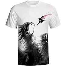 Pollover Camiseta Niños Tees Camiseta Térmica de Compresión Personalidad Cráneo Estampado 3D Para Hombre Casual Slim Camisa… 3tg08Nrj
