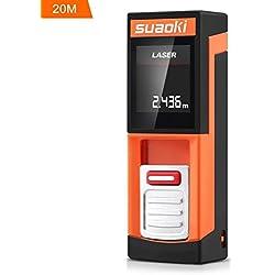Suaoki D5 - 20m Mini Telémetro Láser Digital Distanciómetro Medidor Láser de Distancia (Ultra pequeño, 4 unidades medición, alta precisión)
