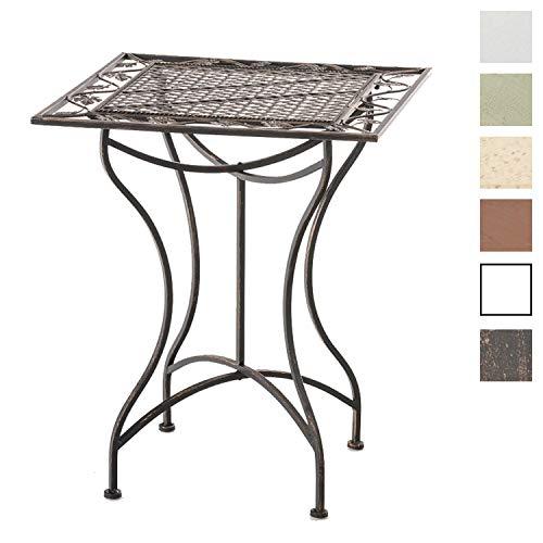 CLP Eisentisch ASINA im Jugendstil I Robuster Gartentisch mit kunstvollen Verzierungen Bronze