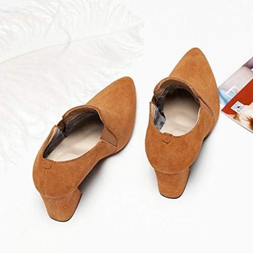 scarpeHAOGE Stivali avvioie Pu (Poliuretano) Autunno Autunno Autunno Casual Stivali Tacco Grosso Stivaletti Nero Marronee B07J6H5GC3 Parent | Shop  | ecologico  35bde9