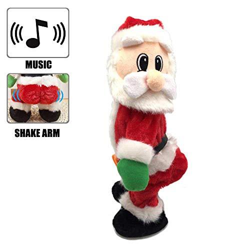 Foonee santa claus figure, 35,6cm twisted wiggle hip twerking natale novità canto elettrico giocattoli