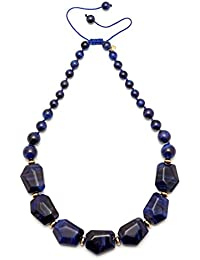 Lola Rose Lucy Navy Blue Tigers Eye Necklace of 27cm