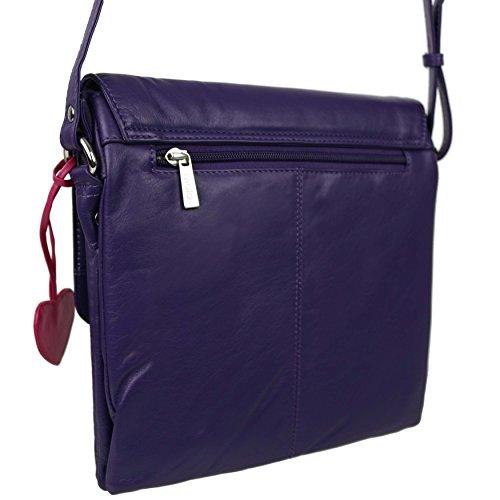 Mala Leather, Borsa a tracolla donna viola Purple Purple