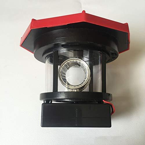 Sisit LED Solar Leuchtturm 9X9.9X5cm   Garten Deko Leuchtfeuer Rot Weiß   Gartendekorationsbeleuchtung mit Dämmerungssensor   Solar Beleuchtung Gartendekoration -