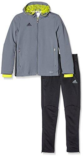 adidas Kinder Sportanzug Präsentationsanzug Condivo 16, Visgre/Black, 116, S93528
