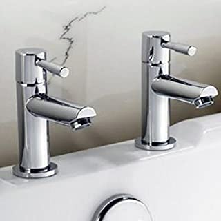 Alfred Victoria Modern Bath Brass Taps F01 - Chrome Finish