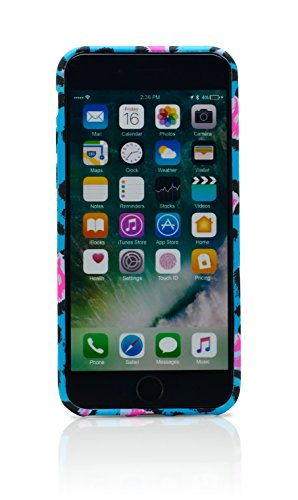 iProtect Schutzhülle Apple iPhone 7 Softcase Glow in the Dark Hülle im Leo-Look beige schwarz orange Leo blau pink