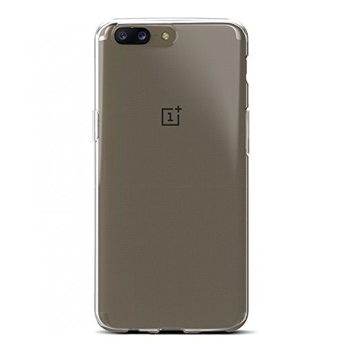 huge discount 937a7 671b8 Amazon Brand - Solimo OnePlus 5 Mobile Cover (Soft & Flexible Back case),  Transparent