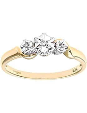 Revoni - 9 Karat Gelbgold Diamantring