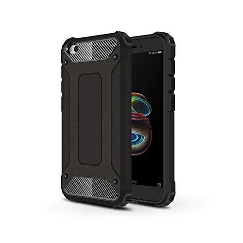 TANYO Funda Adecuado para Xiaomi Redmi Go, Heavy-Duty Anti-Caída Phone Case, Extraíble 2 en 1 a Prueba de Golpes Robusto y Durable Fashion Ultra-Thin Funda Protectora, Negro