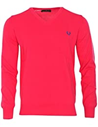 Fred Perry Pullover Herren Rosa Baumwolle Casual XXXL