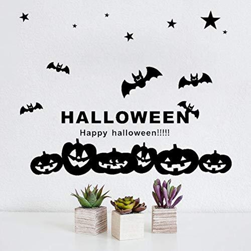 Happy Halloween Wandaufkleber Hexe MurciéLakes Fenster Dekoration Aufkleber Decoracion 60X50Cm