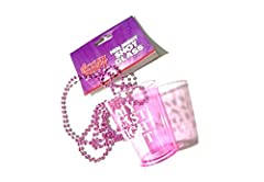 Idea Regalo - Stylex Addio al nubilato vetro shot Last Night Out collana rosa Fancy Dress party di marca