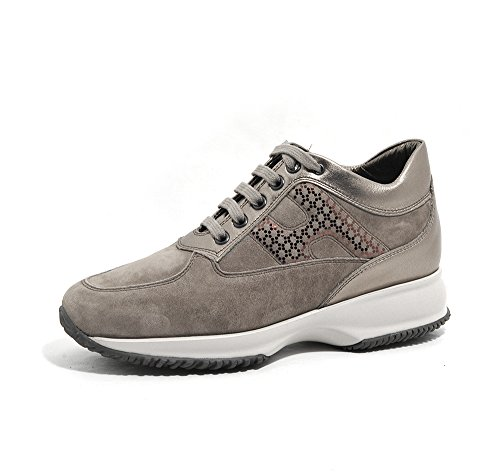 HOGAN donna sneakers basse HXW00N0V350Q252641 INTERACTIVE LAV.H LAMINA Beige-dorato