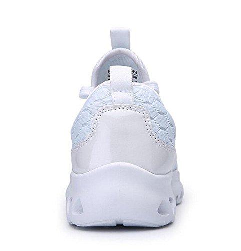 GLTER Männer Frühlings-Paar-beiläufige Sport-Männer beschuht Art und Weise Breathable Ineinander greifen-Tuch-Füße beiläufige Schuhe laufende Schuhe Basketball-Schuhe White