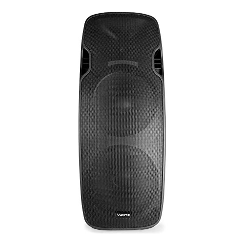 Vonyx AP215ABT MP3 Hi-End Aktiv Lautsprecher 1200W 2x15-Mid-Low-Tieftöner USB