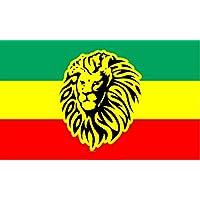 DURABOL Bandera de Rastafari leon flag 90x150cm SATIN