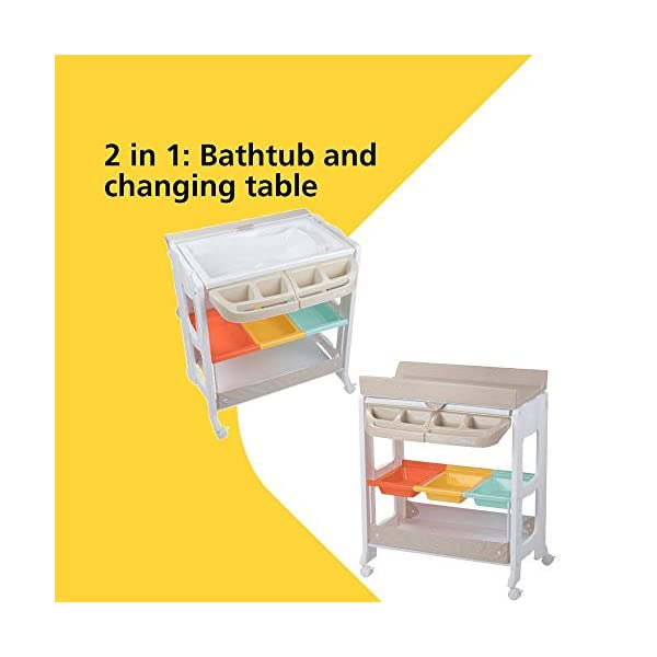 Safety 1st Dolphy Baby Changing Unit, Warm Grey Safety 1st 2 in 1: bathtub and changing table. no need to bend to bath baby Easy to lift up with one hand changing table Integrated bathtub with drainage tube included 2