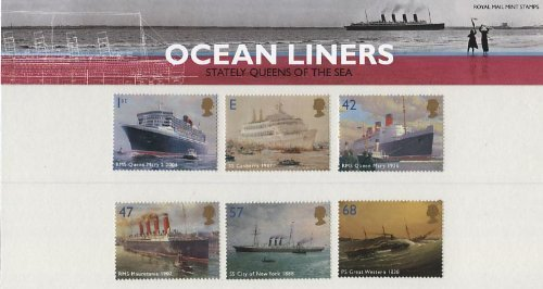 2004 Ocean Liners Stamps in Presentation Pack by Royal Mail -