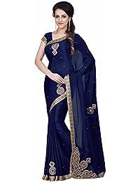 Arohi Designer Women'S Clothing Saree For Women Latest Design Saree New Collection 2018 (MancholiNavyBlue-AROHIM15...