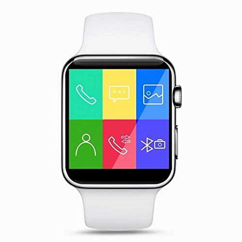 Boutique Connectée Montre Connectée Smartwatch pour Smartphone Android Apple iOS Windows Phone Bluetooth 4.2 Langue Français Slot Carte SIM Carte SD Contrôle Musique SMS Appels 2019 (Blanc)