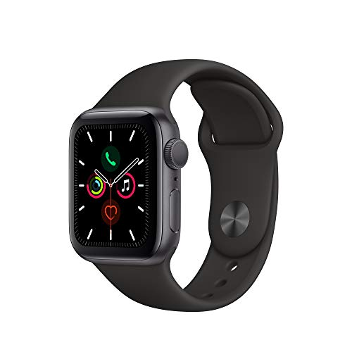 Apple Watch Series 5 (GPS, 40mm) - Space Gray Aluminium Case with Black Sport Band