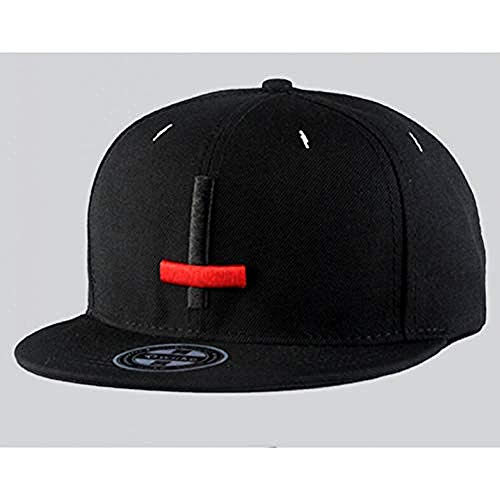 Hut Street Dance Cool Hip Hop Hut Stickerei Kreuz Baseball Cap, schwarz
