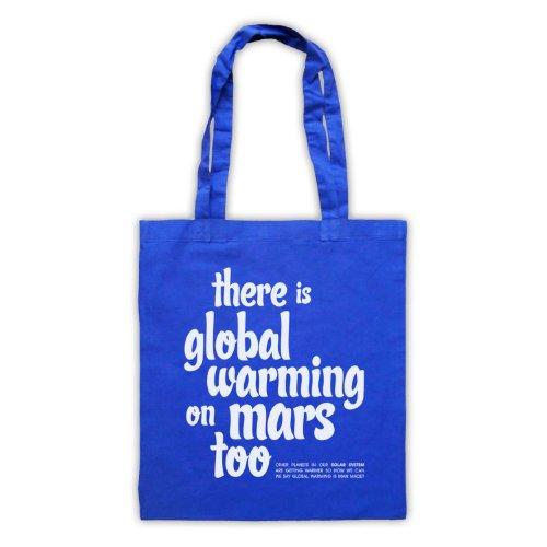 Esiste riscaldamento globale On Mars troppo Protest Tote Bag Blu