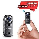 FREDI Cámara Espía HD 1080P Mini Cámara Oculta Portátil Interior/Exterior WiFi Cámara IP de Seguridad Admite Tarjeta hasta 128G(no Incluye)/(batería i