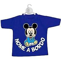 STICKEREDO Mini t-shirt magliettina bimbo bimba auto nomi bordo bebè baby on board personalizzabile con tutti i nomi