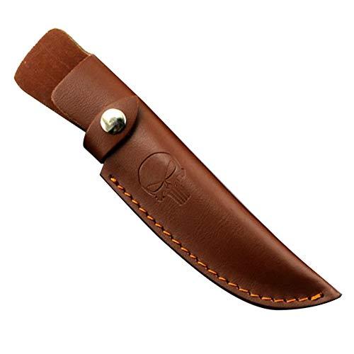 BETTERLE Brown Leather Fixed Blade Messer Scheide - Jagdmesser Leder Scheiden Universal Messer Taschen Knife Sheath (#2-M)