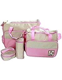 [Sponsored]GTC Baby Bucket 5pcs/set Baby Diaper Bag Nappy Mummy Bag Print Maternity Handbag Changing Baby Messenger Bag -...