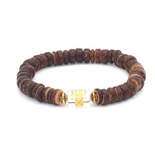 ILSXV Schmuck Armbänder Perle Kokosnuss Muschel Perlen Armband tibetischen geschnitzten Obsidian Perlen Armband Großhandel -