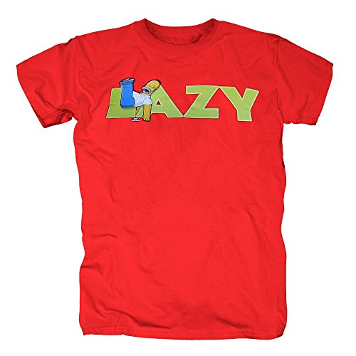 TSP Simpsons - Lazy Homer Simpson T-Shirt Herren XL Rot