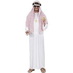 Árabe Sheik Traje Extra Grande para el Manchester City vestido de lujo