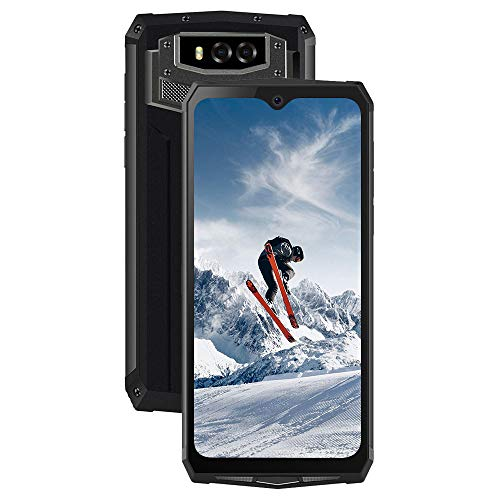 rugged smartphone in offerta 4g, blackview bv9100 ip69k outdoor smartphone antiurto 13000mah (30w ricarica rapida), 4gb+64gb, 16mp+16mp, dual sim android 9.0, 6.3 fhd+ waterdrop schermo, nfc/face-id
