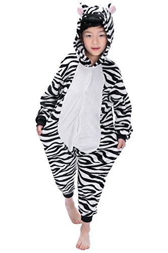 Dolamen Kinder Unisex Jumpsuits, Kostüm Tier Onesie Nachthemd Schlafanzug Kapuzenpullover Nachtwäsche Cosplay Kigurum Fastnachtskostuem Weihnachten Halloween (Höhe 100-110CM (39