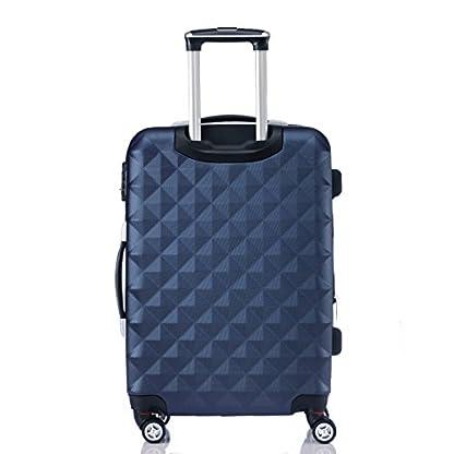 41DaW2P36CL. SS416  - Ruedas gemelas 2066rígida Maleta Equipaje de viaje Maleta viaje para M de l de XL de Juego en 12colores, azul oscuro, extra-large