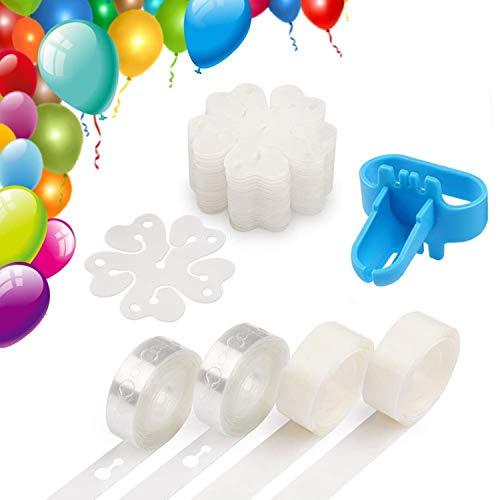 35 pezzi decorazione striscia kit, includere balloon nastro biadesivo dots, palloncino tying strumento, palloncino arco ghirlanda forniture, palloncino fiore clip