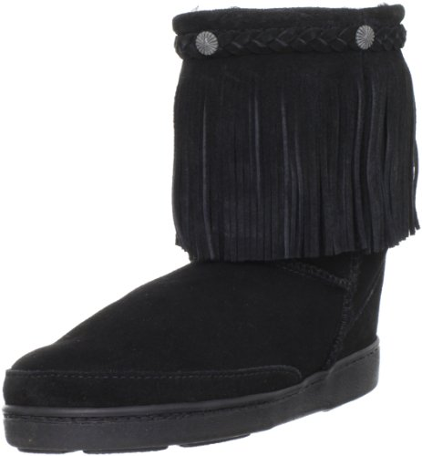 Minnetonka - Sheepskin Pug Boot Black